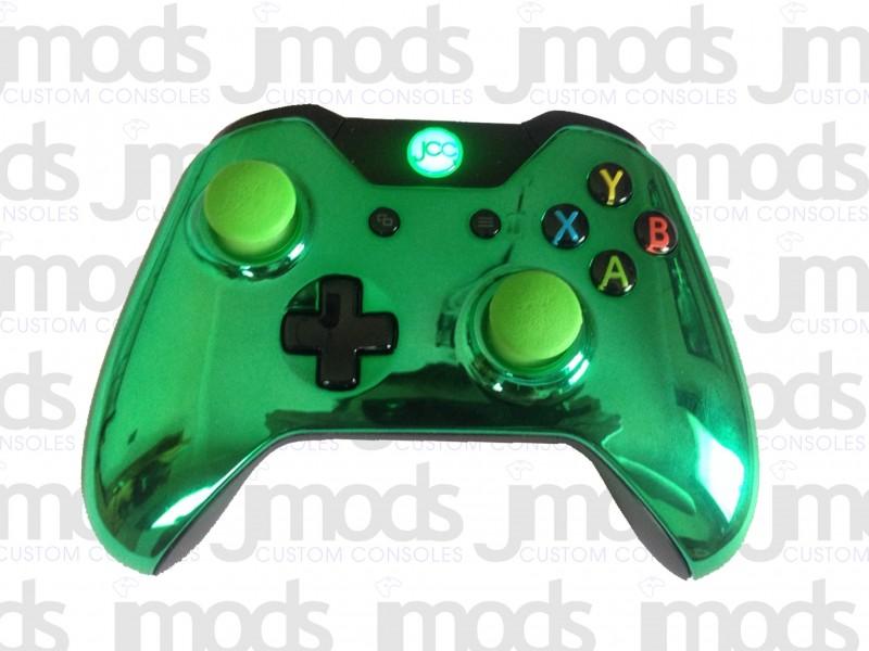Xbox One Custom Controller (Chrome Green)