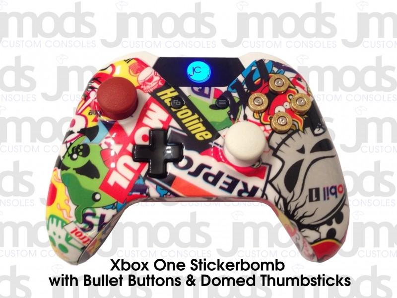 Xbox One Custom Controller (Stickerbomb)
