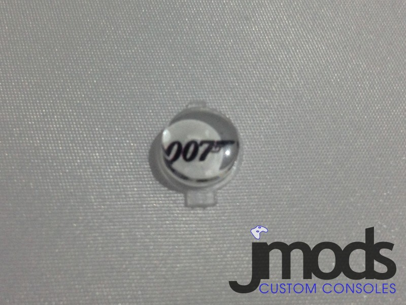PS3 Custom Home Button (James Bond: 007 White)